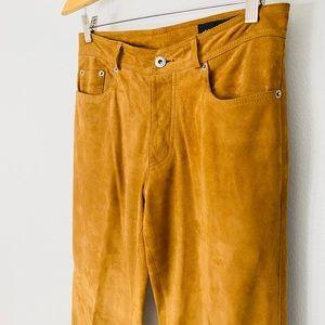 Donald J. Pliner Super Soft Tan Suede Pants